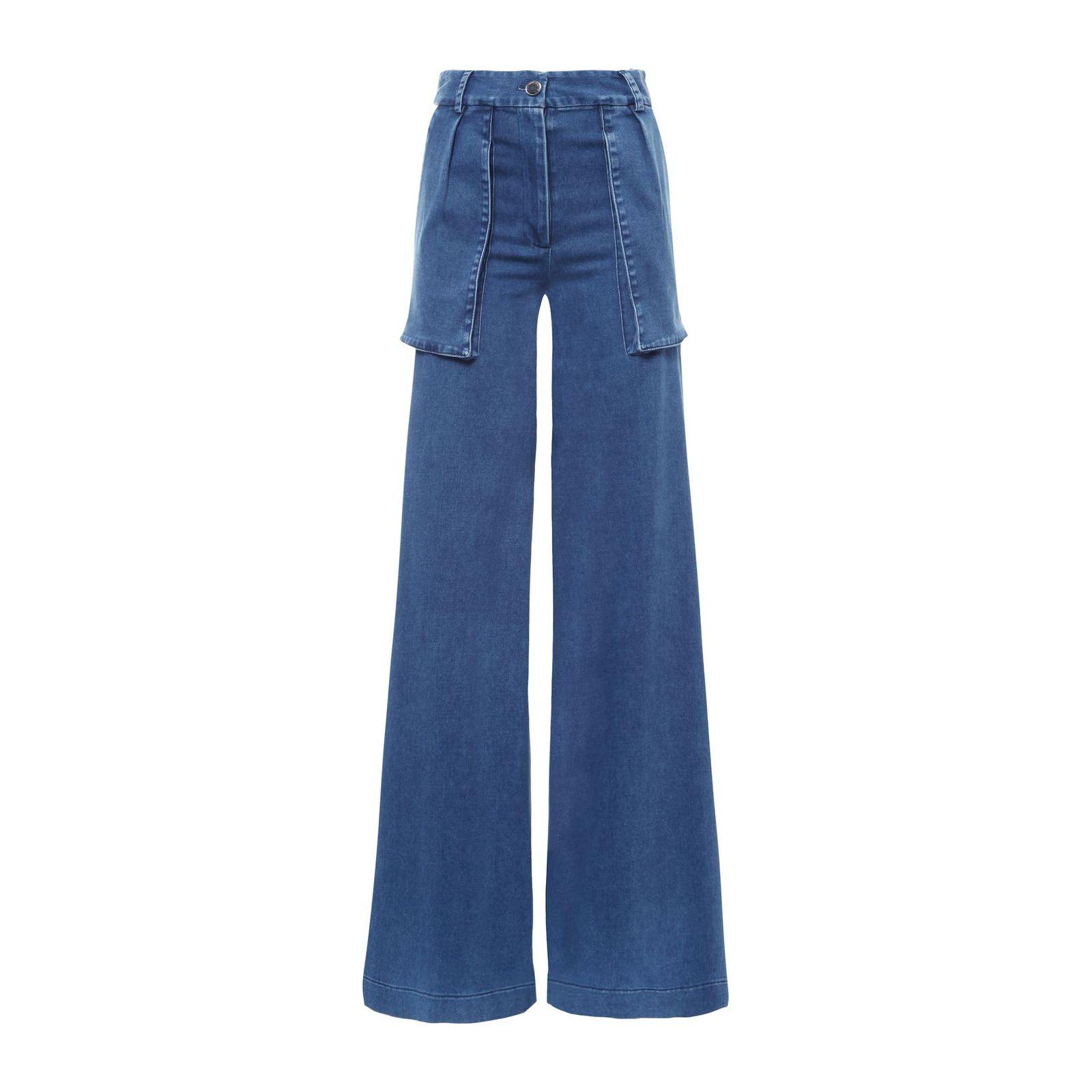 Calça Jeans Pantalona - Azul