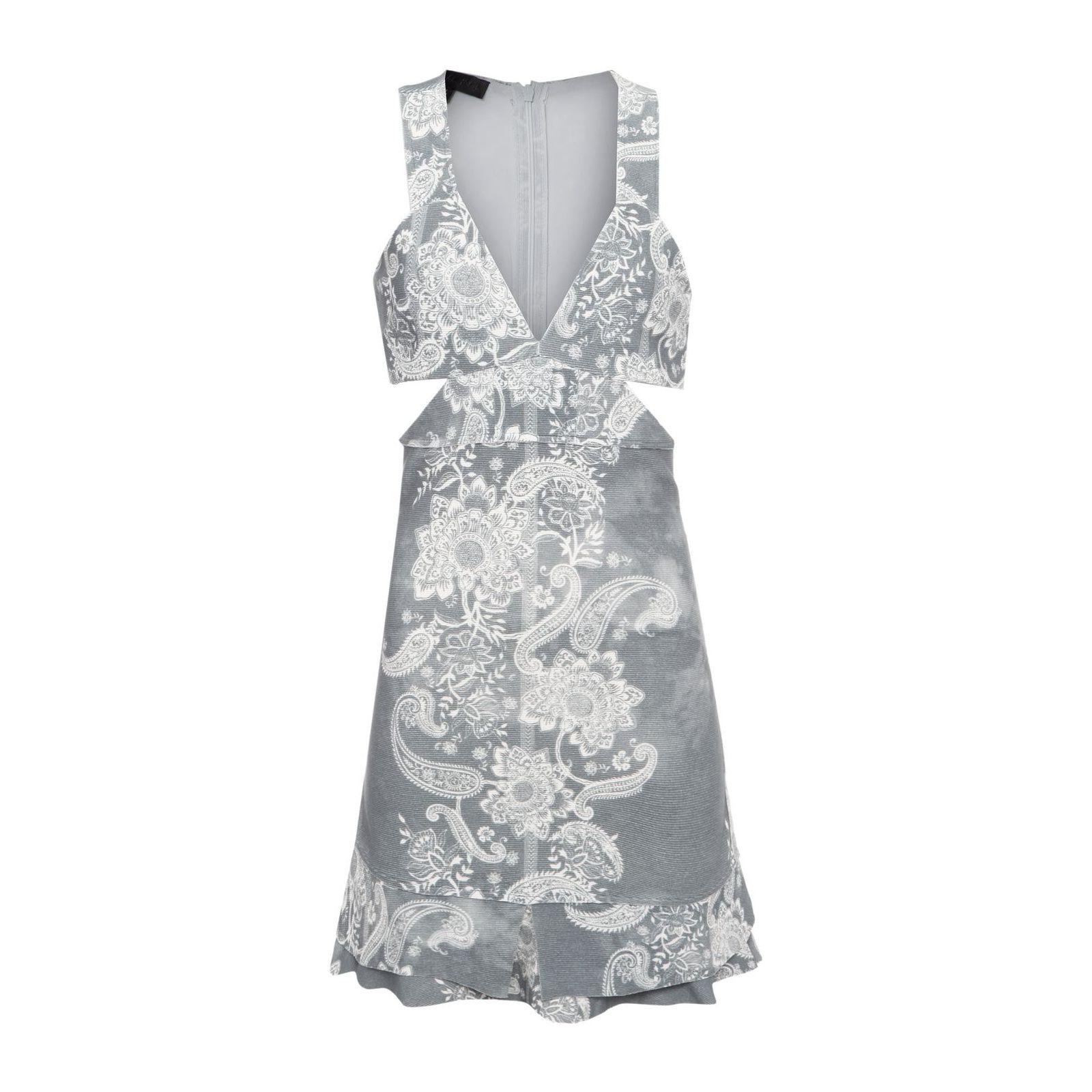 Vestido Paisley Grey - Cinza