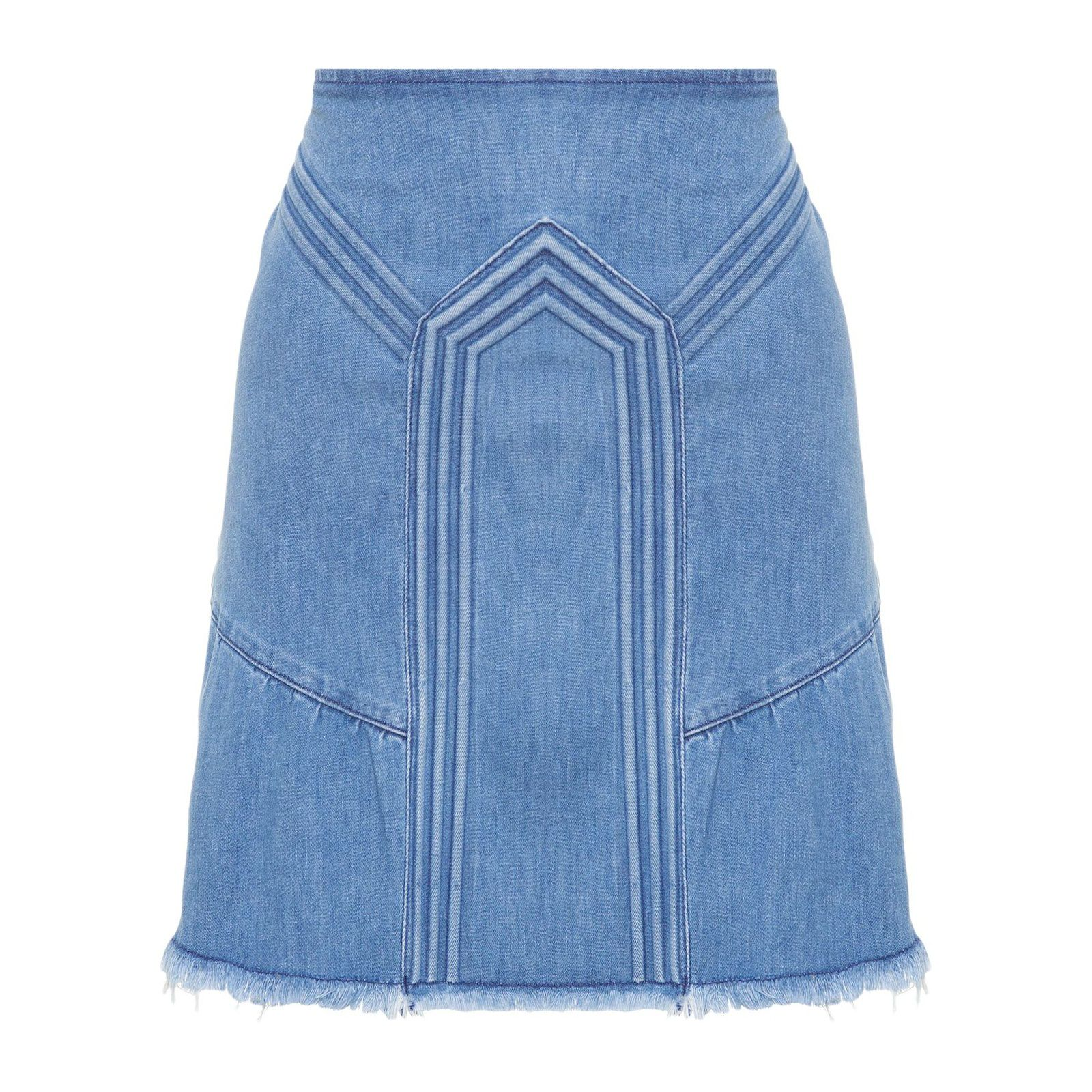 Saia Jeans Embolsing - Azul