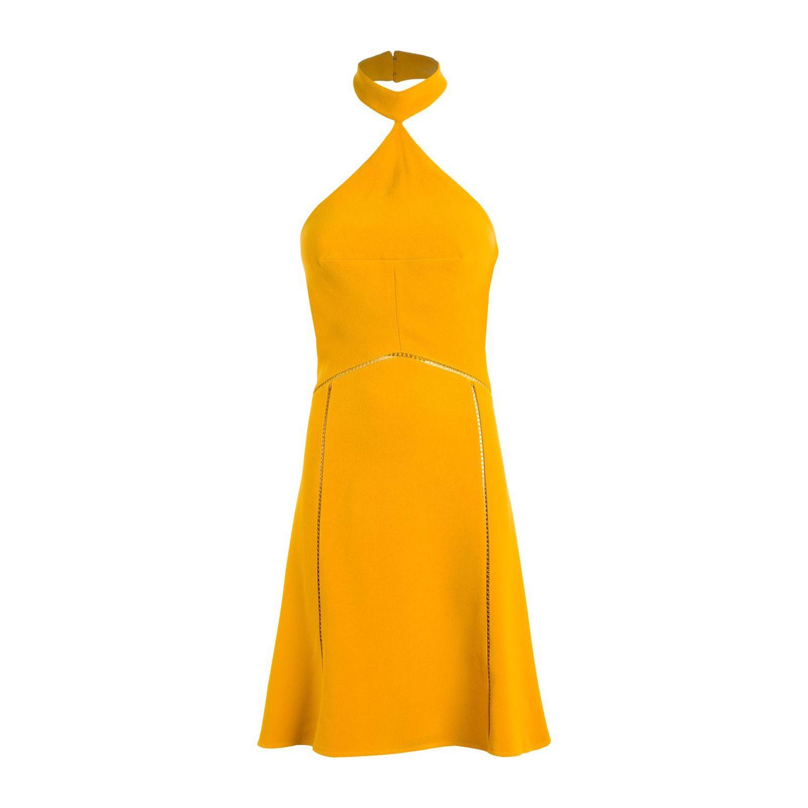 Vestido Adriana Carina Duek Cd+ - Amarelo