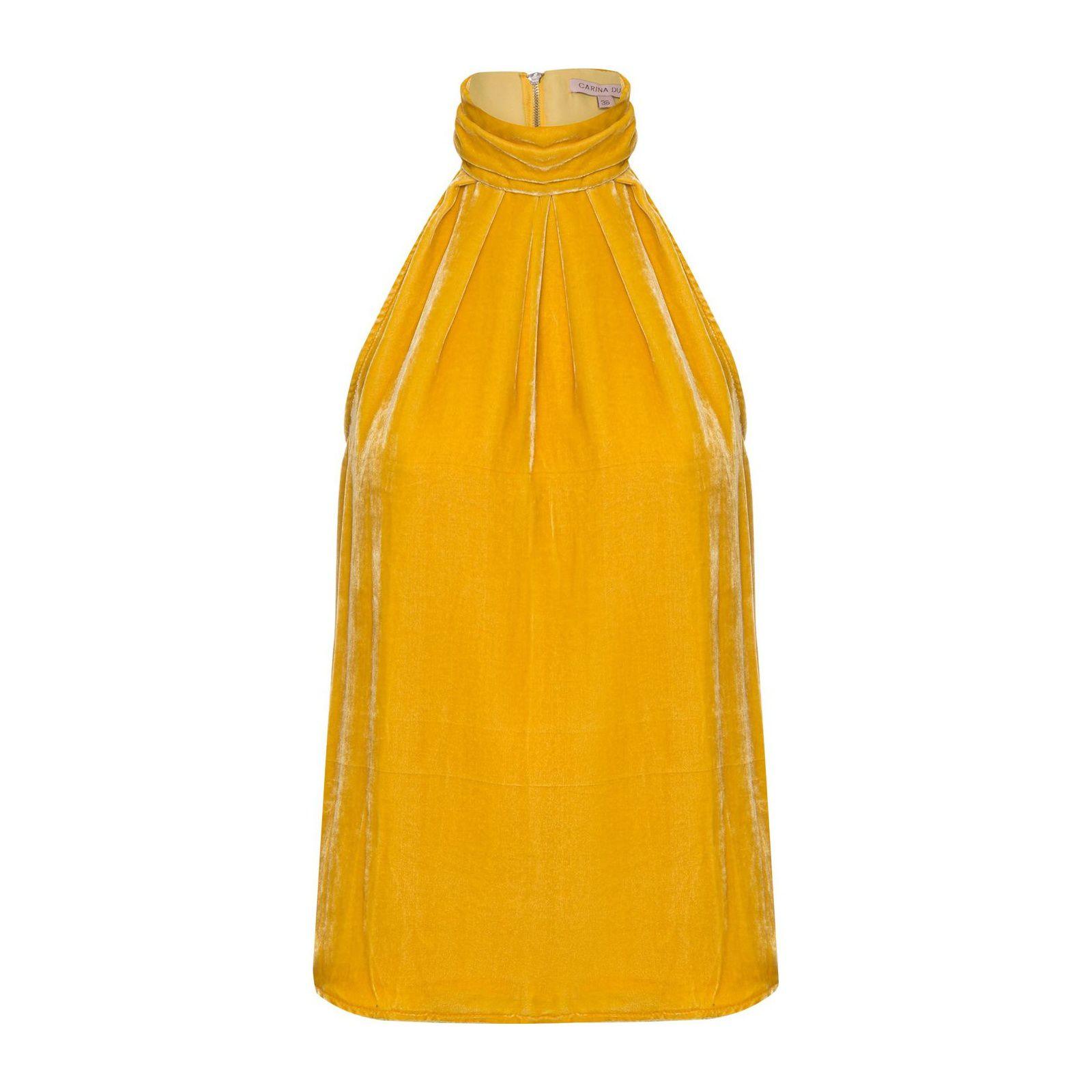 Regata Elke Veludo - Amarelo