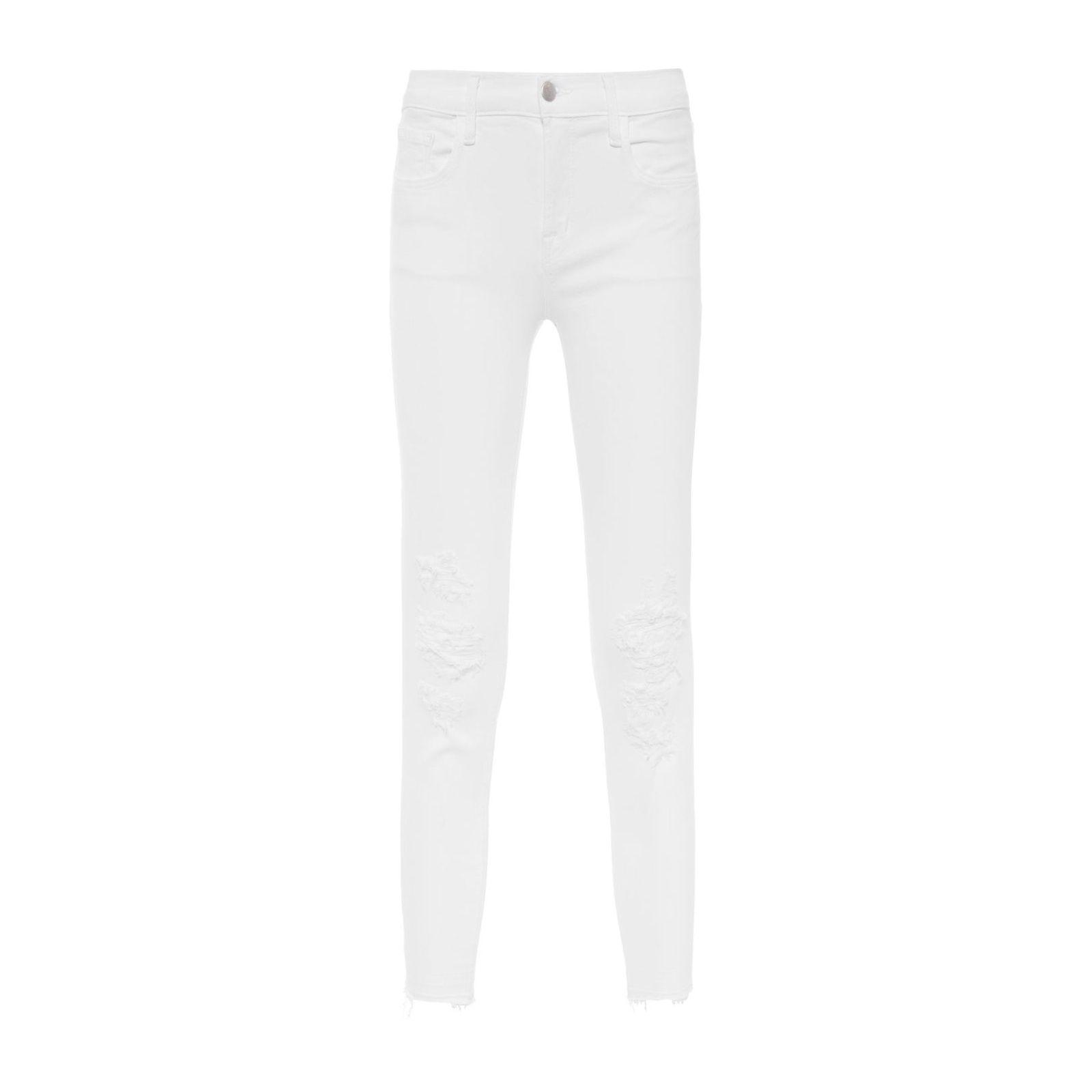 Calça Jeans Low Rise Cropped Skinny - Branco